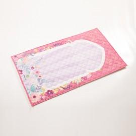 Детский розовый коврик для намаза (размер 78x47)
