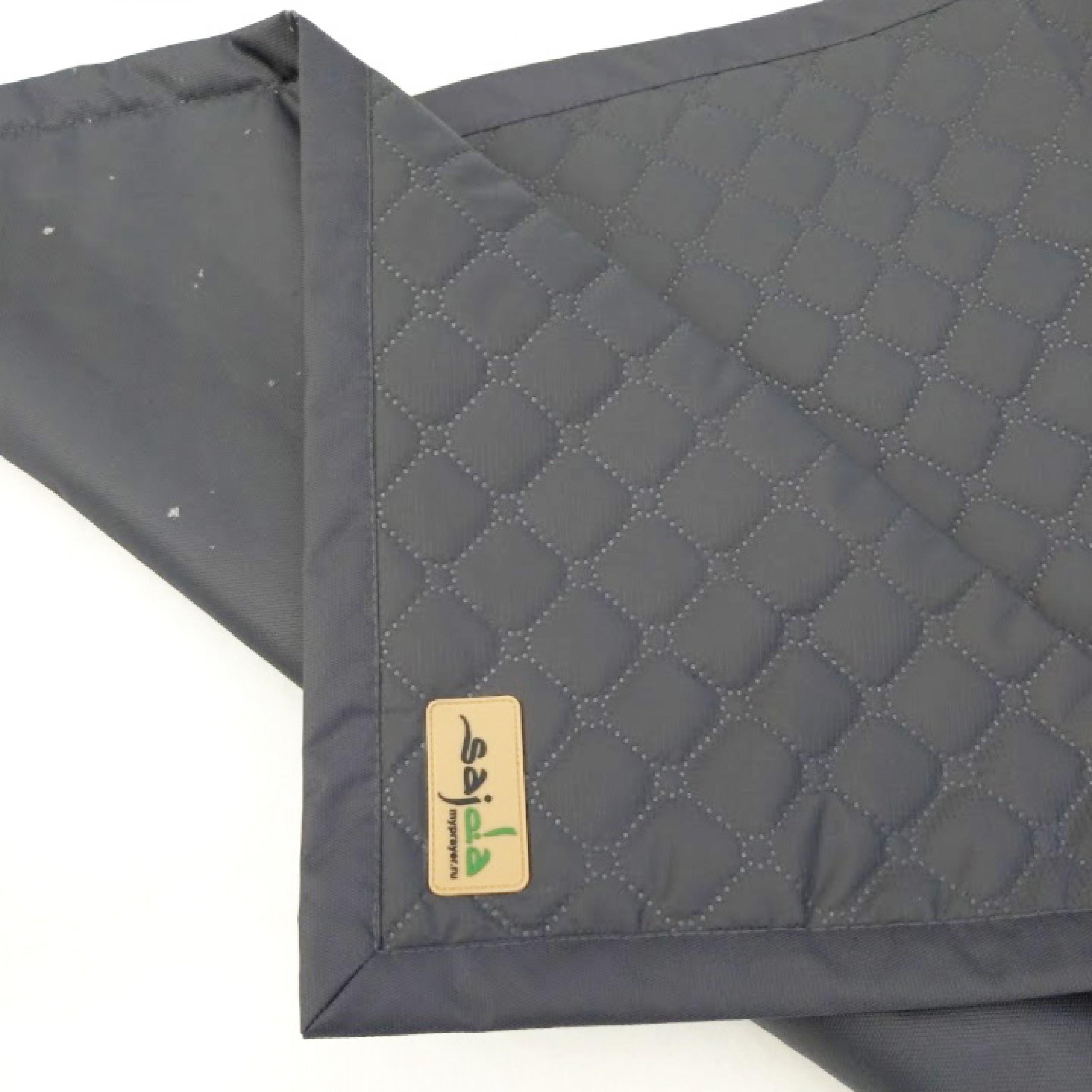 Графитово-серый непромокаемый коврик для намаза (размер 120x62)