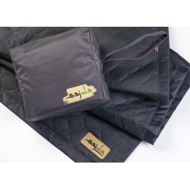 Черный непромокаемый коврик для намаза (размер 120x62)