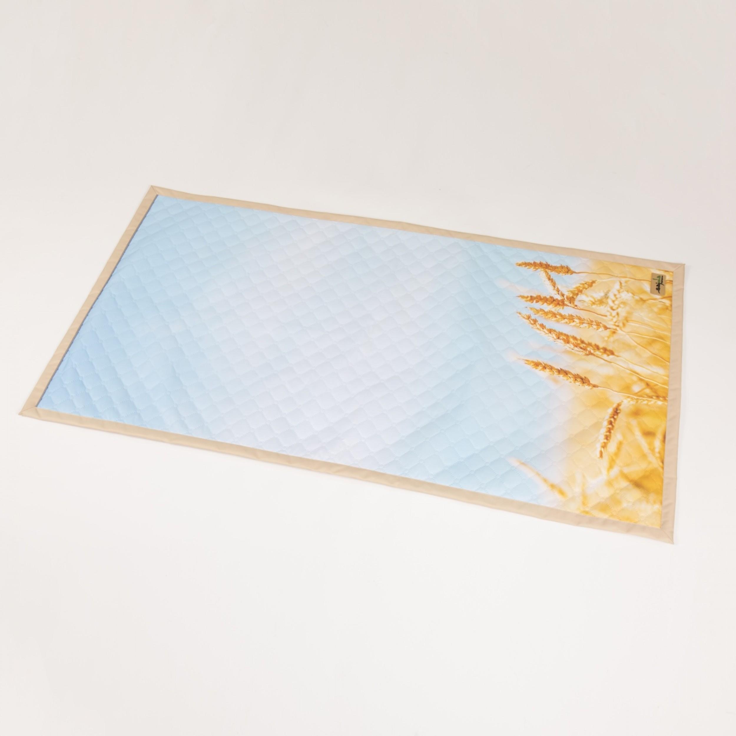 """Непромокаемый коврик для намаза """"Колосья"""" (размер 120x62)"""