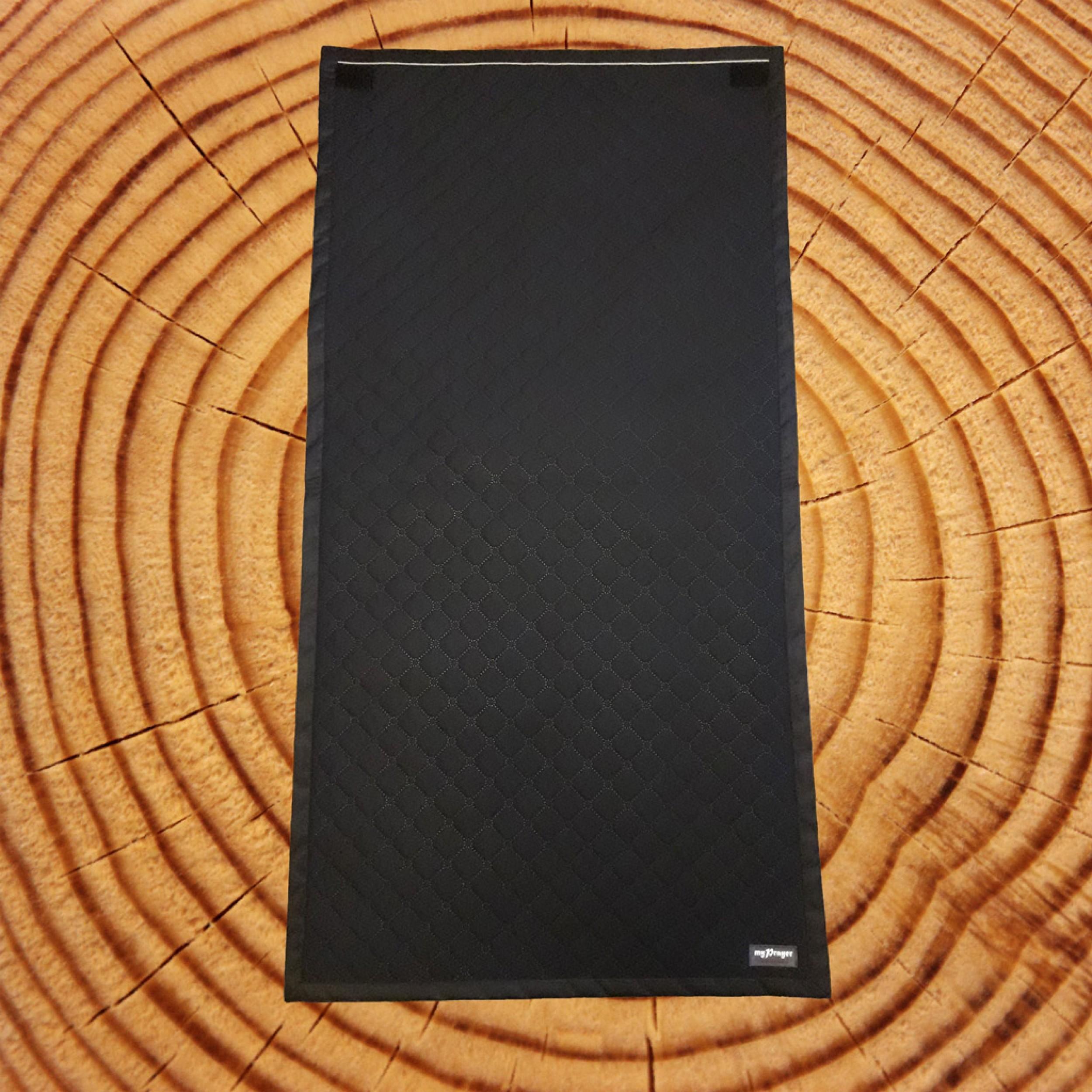 Чёрный непромокаемый коврик для молитвы размер 120x62)