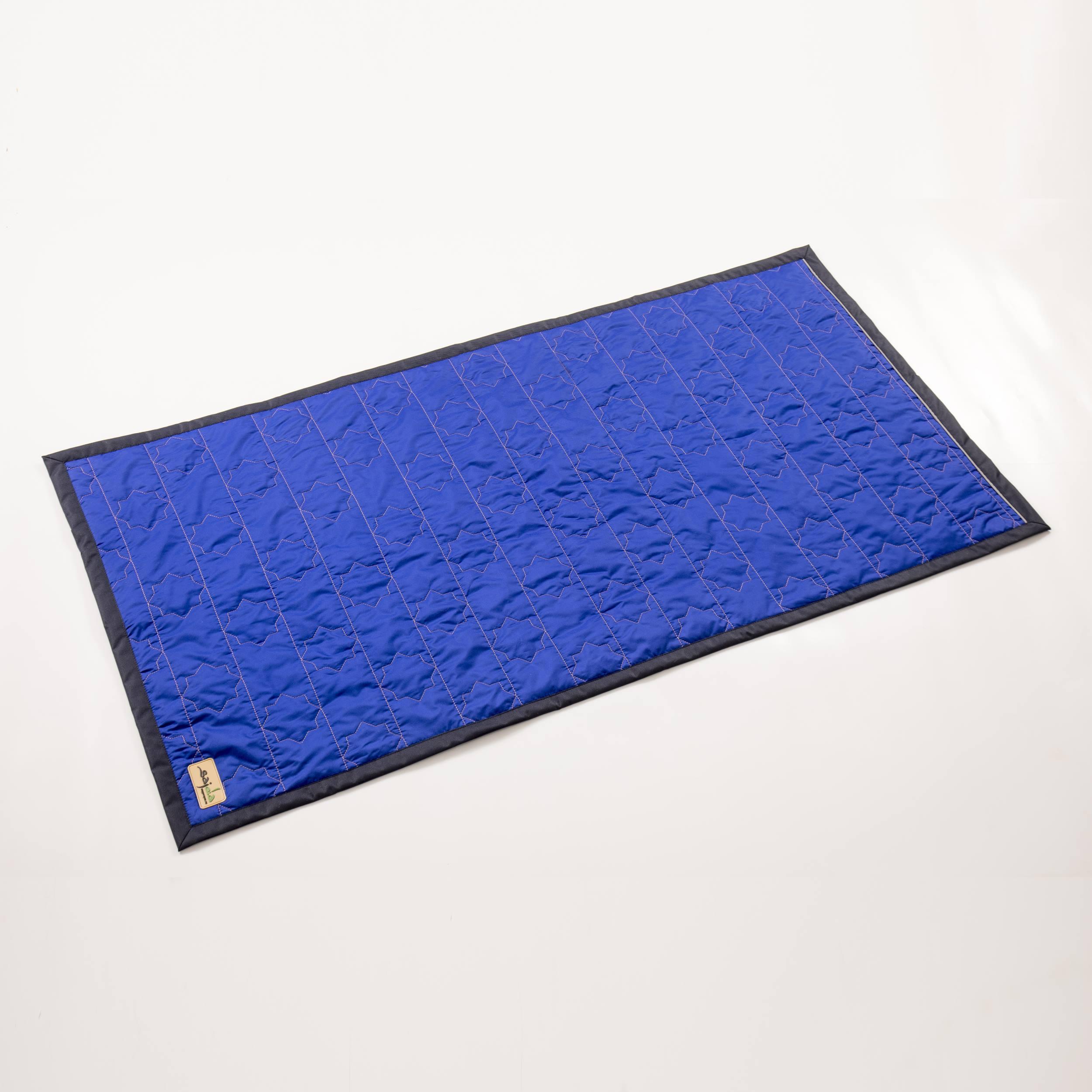 Синий непромокаемый коврик для молитвы (размер 120x62)