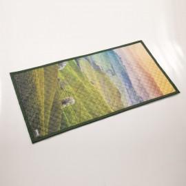 """Непромокаемый коврик для молитвы """"Солнечные поля перед закатом"""" (размер 120x62)"""