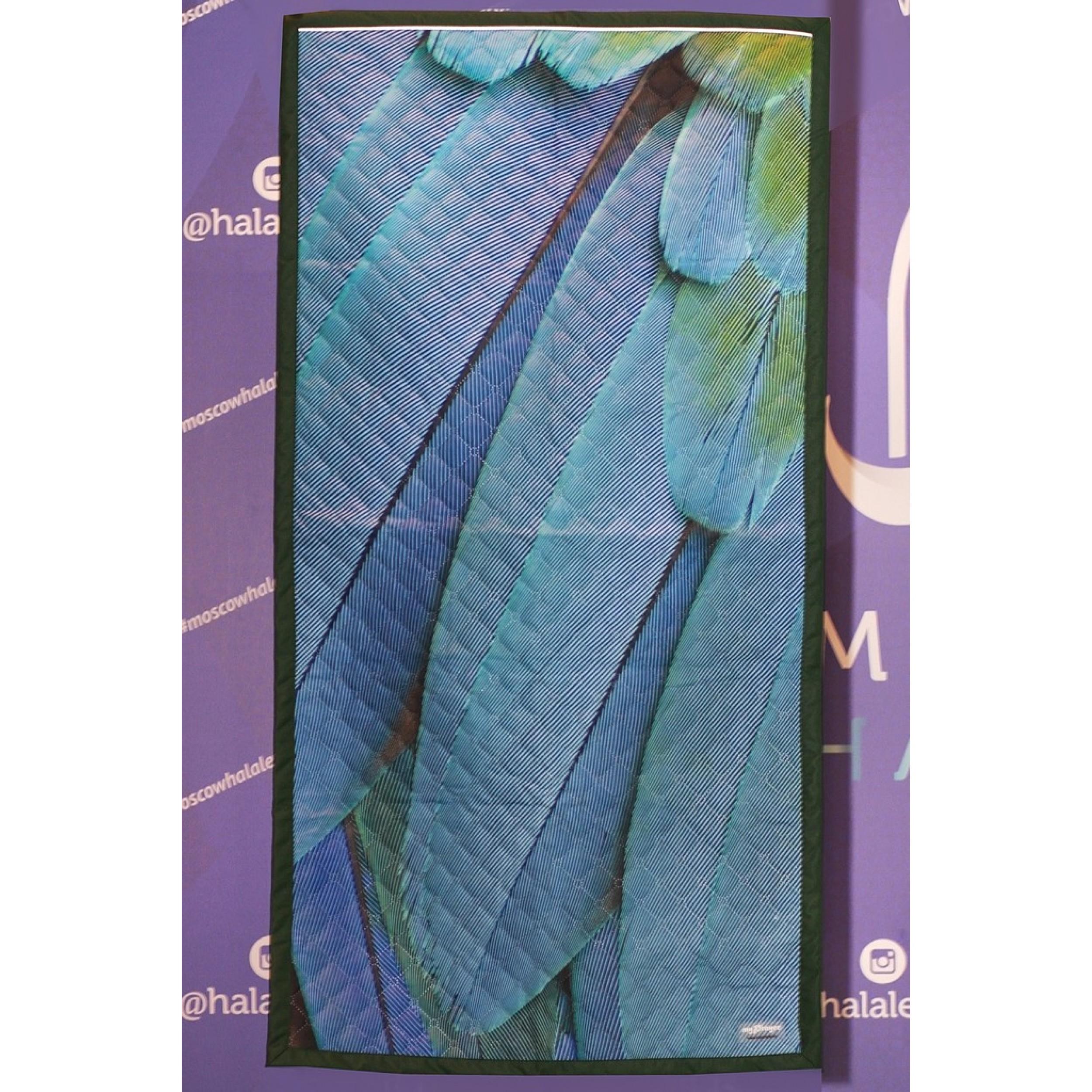 """Непромокаемый коврик для намаза """"Перья"""" (размер 120x63)"""