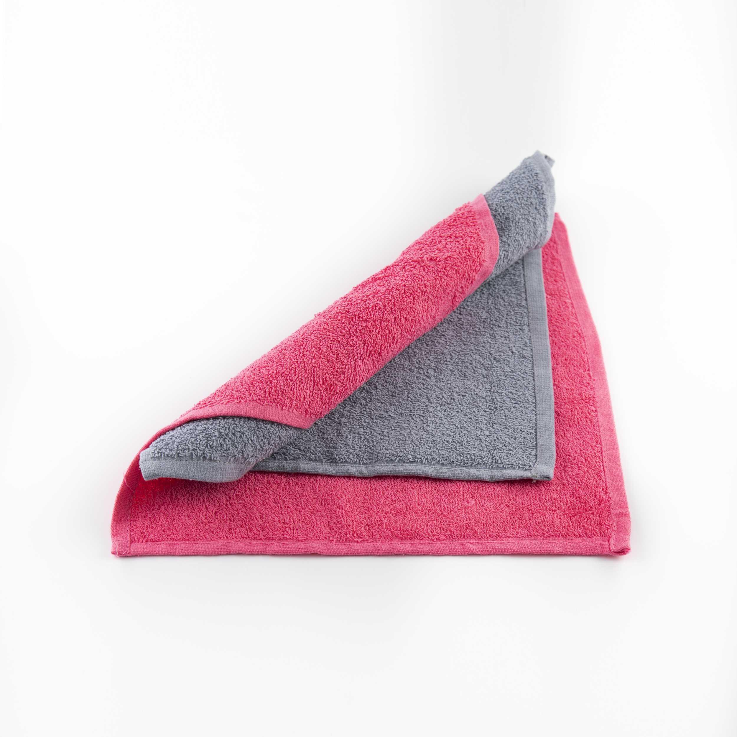 Набор для тахарата (омовения): 2 полотенца (розового и серого цвета) в непромокаемой косметичке